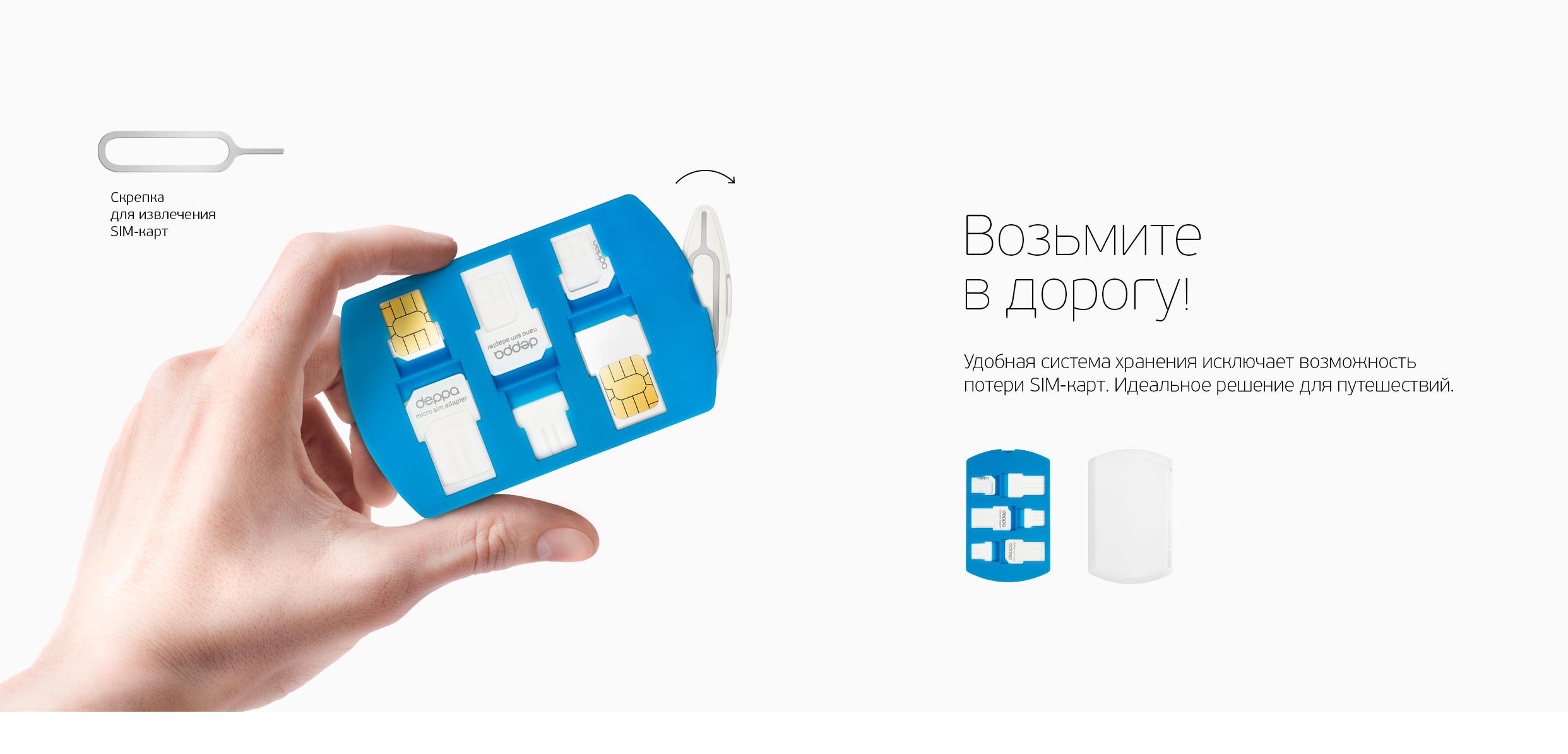SIM card адаптеры и система хранения
